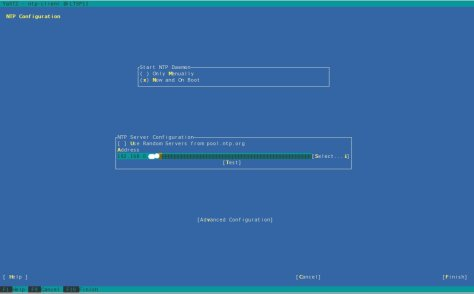 YAST NTP Configuration