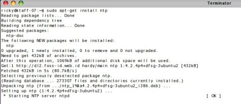 ntp install @ ubuntu